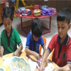 Collage making was done by UKG and LKG, Card Making by class 1-3,Biscuit topping by class 4-6 was held on 17/05/19