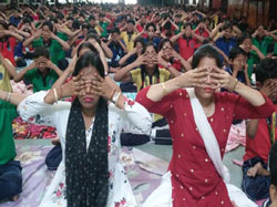 International Yoga Day, 2019 The 5th International Yoga Day was celebrated in Hindustani Kendriya Vidyalaya, Guwahati on 21/06/19.Students from classes nursery to class xii participated in the celebration of yoga in our life.